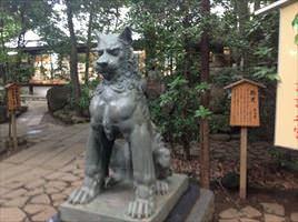 駒木諏訪神社狛犬うん形